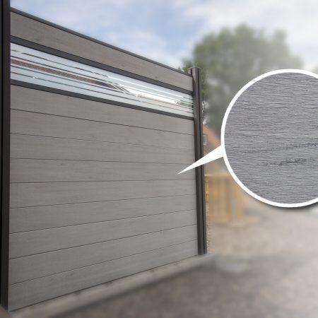 Bpc Zaun Mit Lochblech Designeinsatz 180 X 180 X 1 9cm Bi Color Weiss