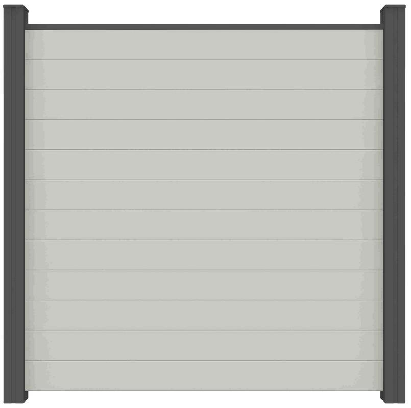 Sichtschutzzaun Bpc Bi Color Weiss 180 X 180 X 1 9cm