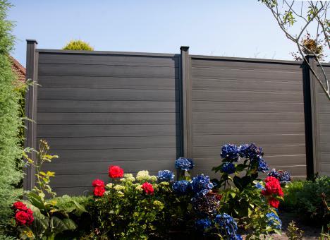 Sichtschutzelement wpc 180 x 180 x 2 7cm in graphite black - Wpc sichtschutz obi ...