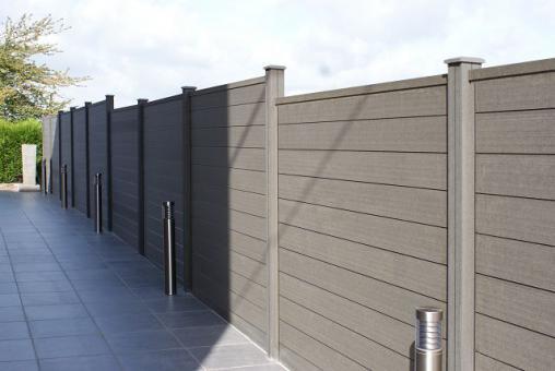 WPC Sichtschutzzaun 180 X 180 X 2,7cm In Stone Grey